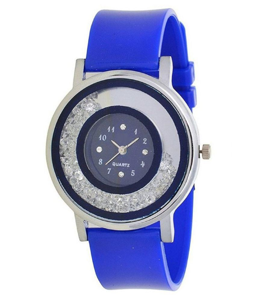 9731b14009 RJL Designer GL Diamond in dial BLUE watches for girls and womens Price in  India: Buy RJL Designer GL Diamond in dial BLUE watches for girls and womens  ...