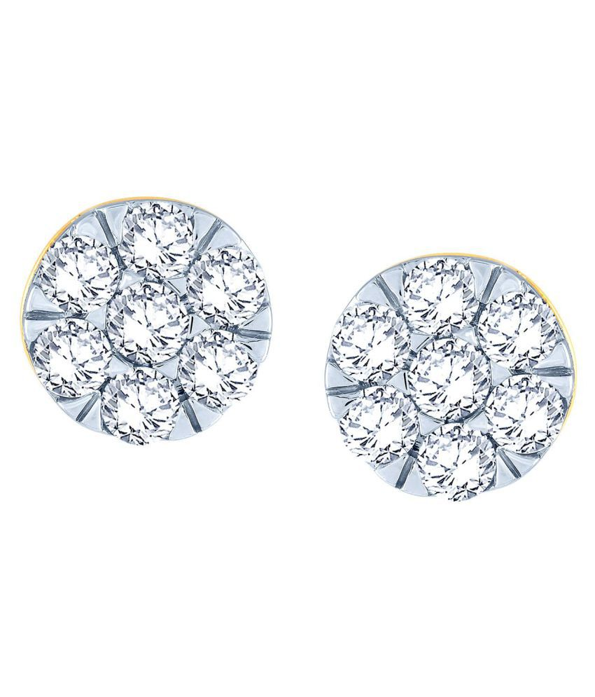 Nirvana 18k BIS Hallmarked Gold Diamond Studs