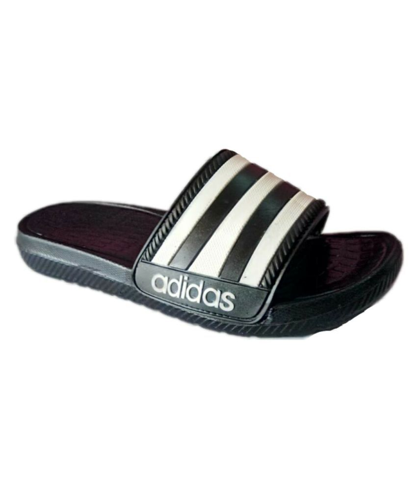7485987a066a6a Adidas Dare Duramo Black Slide Flip flop Price in India- Buy Adidas Dare Duramo  Black Slide Flip flop Online at Snapdeal