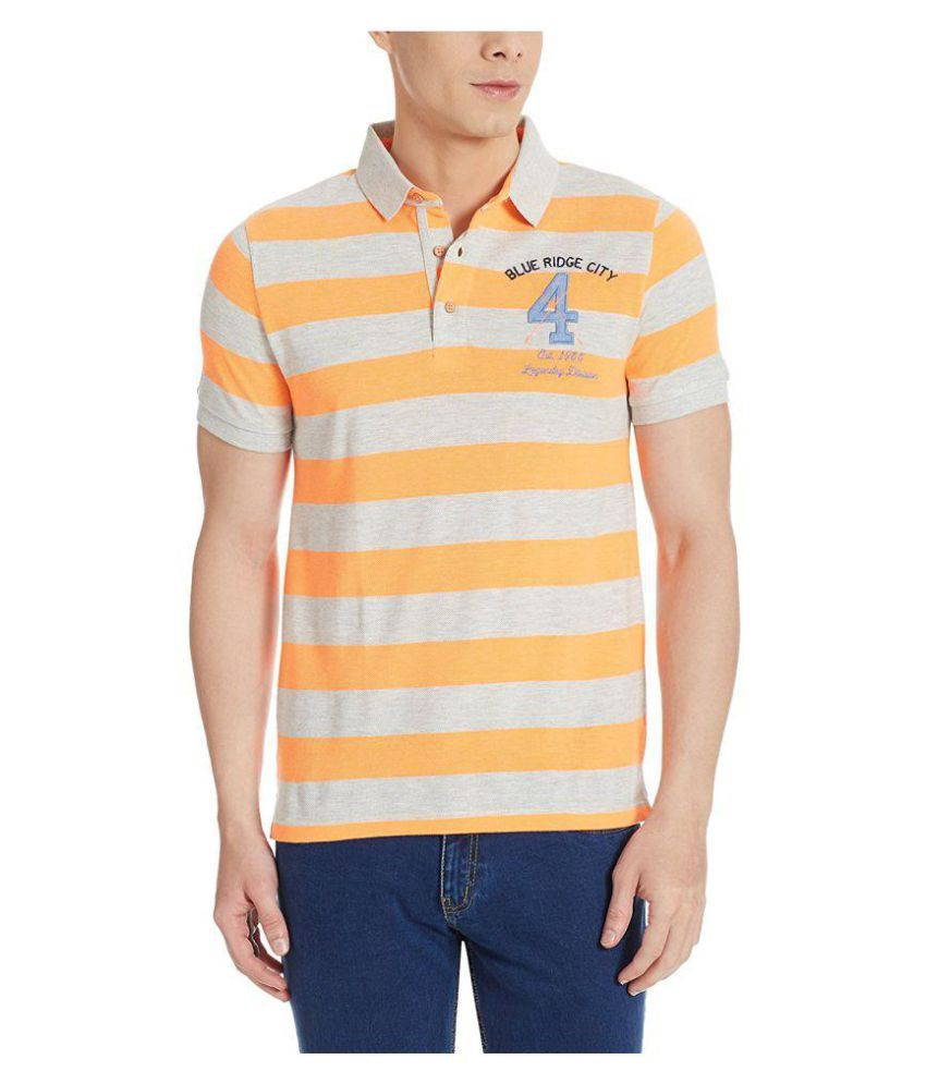 United Colors of Benetton Orange High Neck T-Shirt