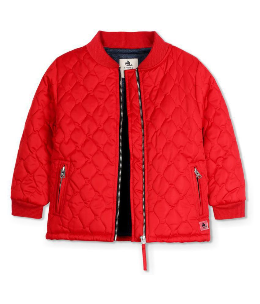 Cherry Crumble Quirky Quilted Jacket