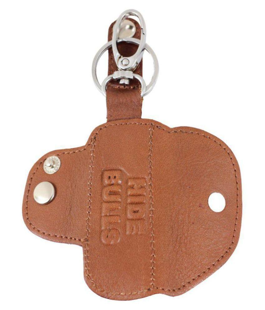 Bulls Hide Brown Genuine Leather Pendrive Holder