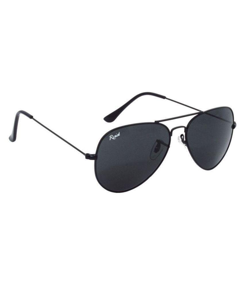 RESIST Black Aviator Sunglasses ( RE-AV-BF-S01 )