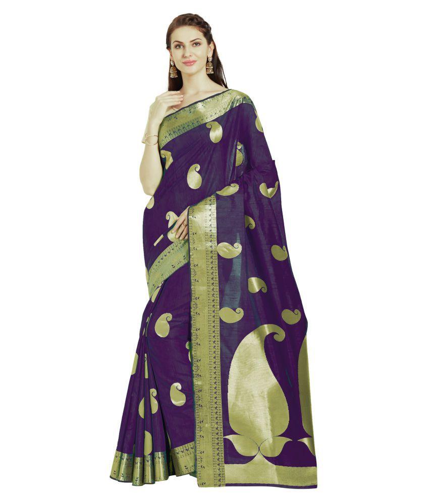 Viva N Diva Purple Banarasi Silk Saree
