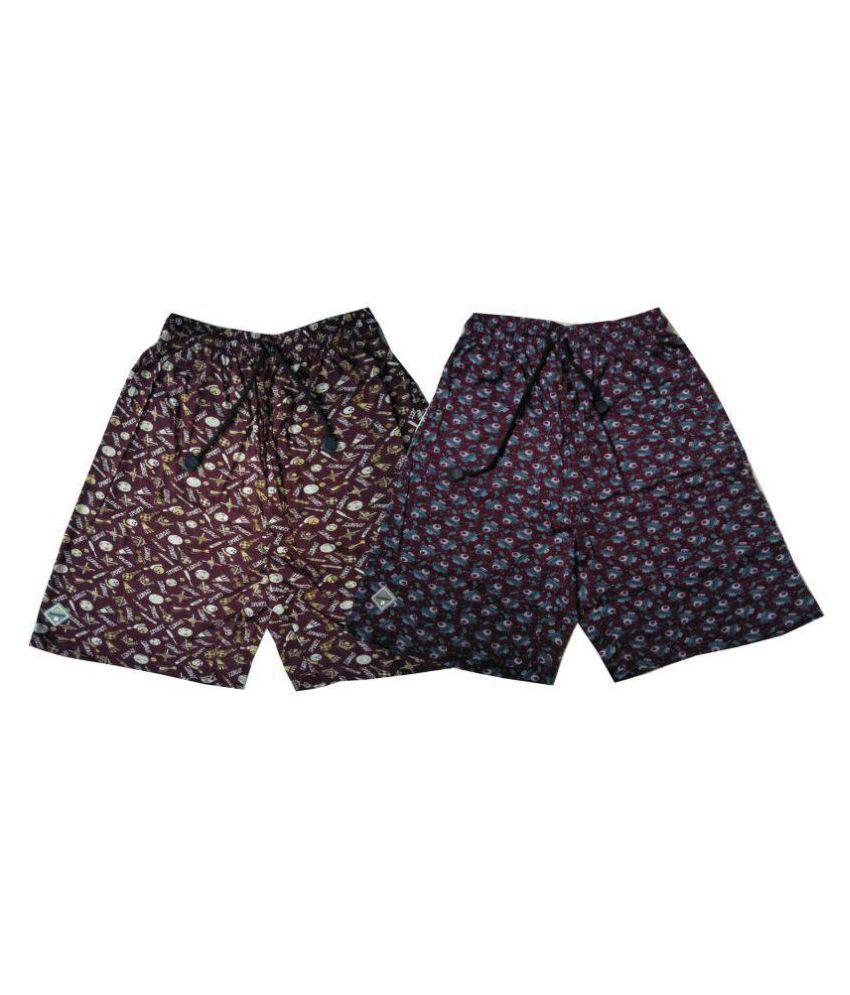 Bumchums Maroon Shorts 2