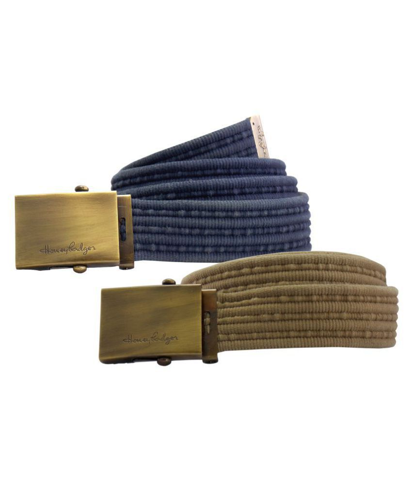 HoneyBadger Navy Canvas Casual Belts