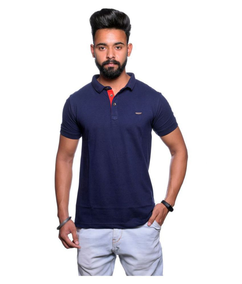 Illusion Blue High Neck T-Shirt