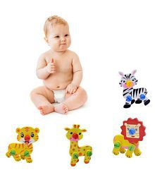 DIY Cute Animal Disassembly and Assembly Wooden Educational Puzzle Learning Toy For Kids