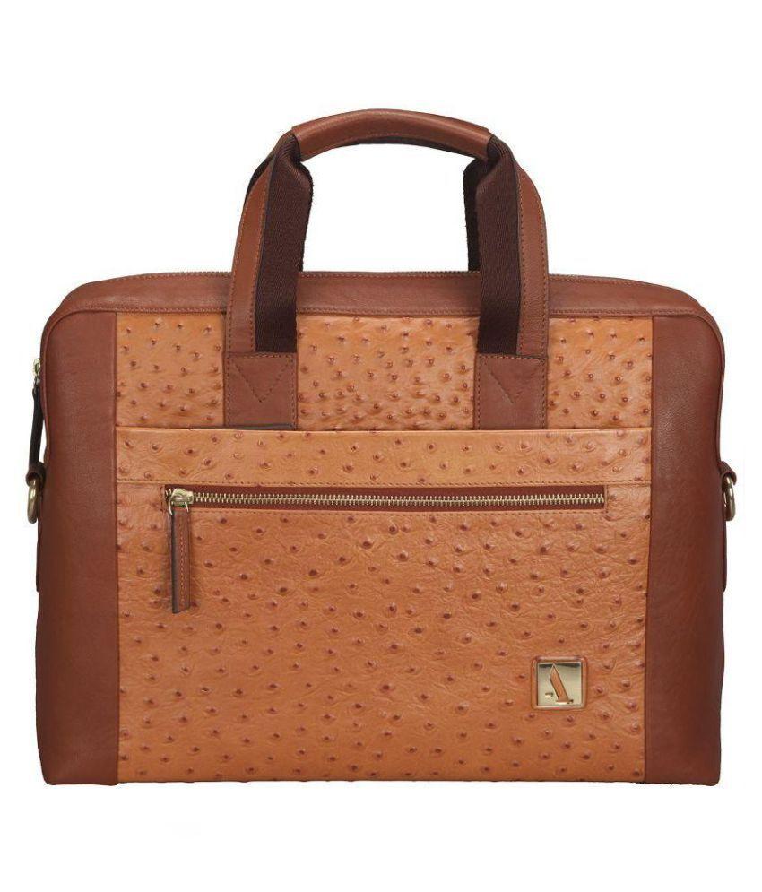 Adamis Tan Leather Portfolio