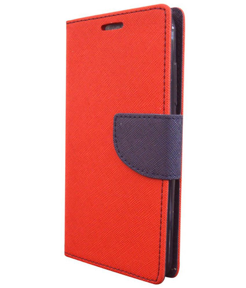 Lyf FLAME 2 Flip Cover by Coverage - Red