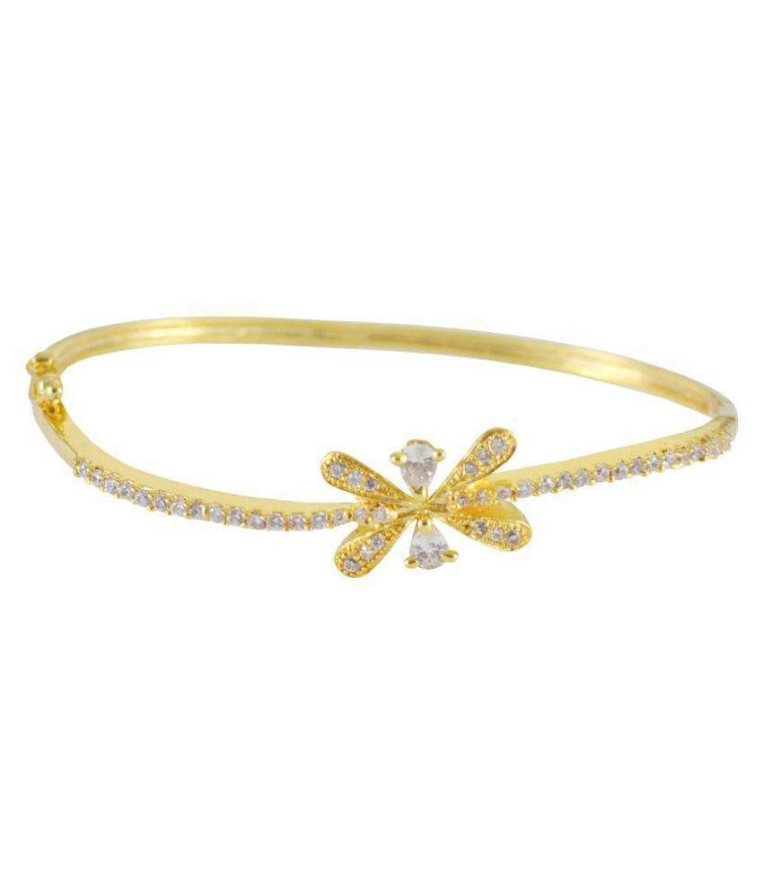 Rejewel Daily Wear Gold Plated Kada