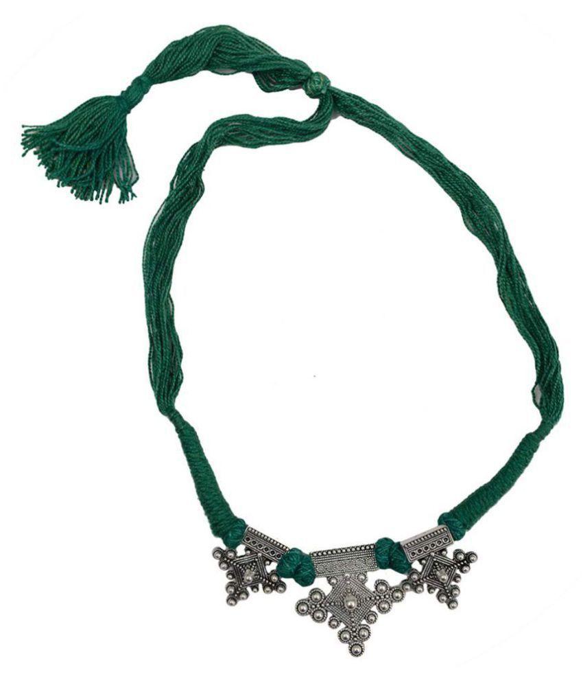 Taj Pearl Designer Gypsy Tribal Rope Necklace