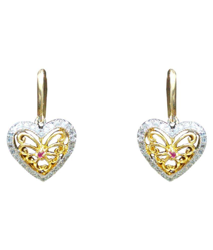 Chandrika Pearls Gems & Jewellers beautiful American Diamond designer copper drop Earrings For Women & Girls