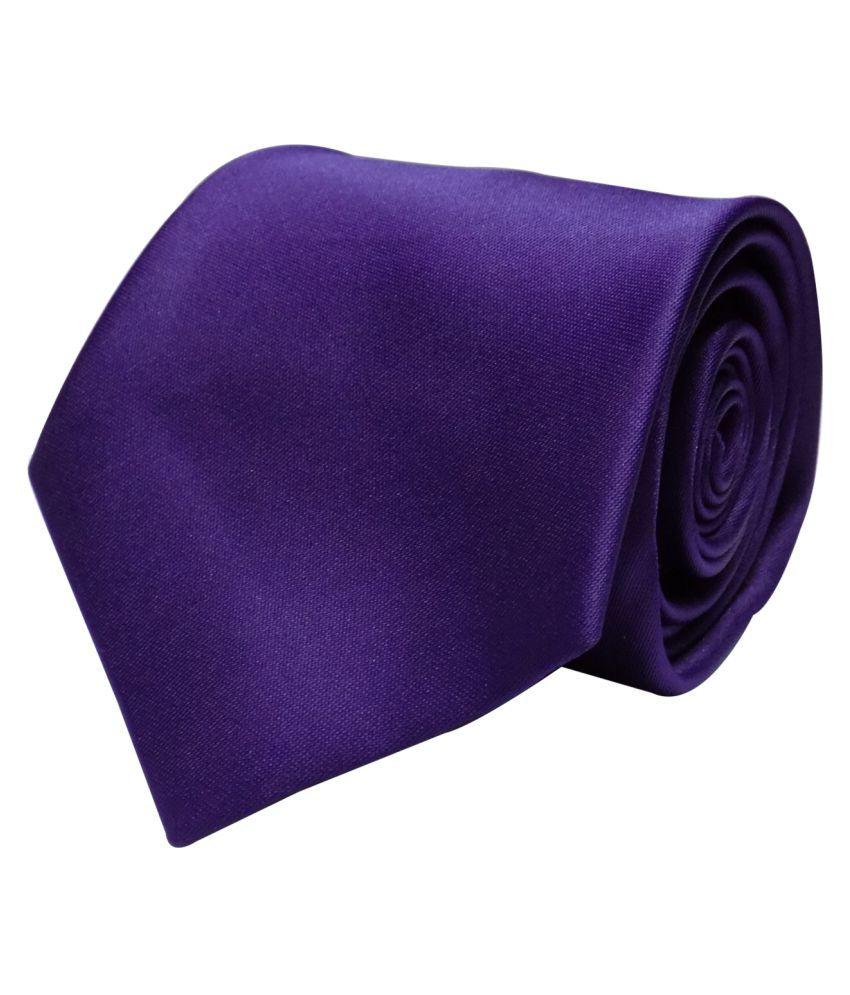 Forty Hands Purple Plain Micro Fiber Necktie