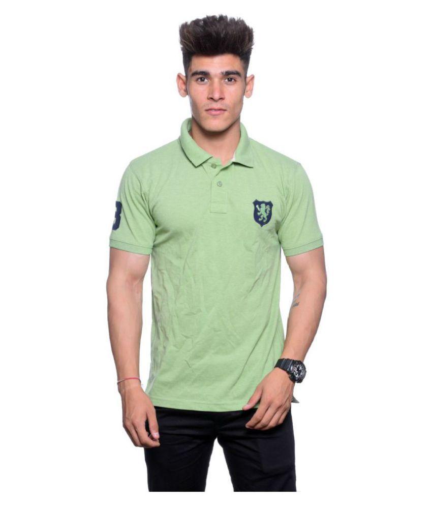 Illusion Green High Neck T-Shirt