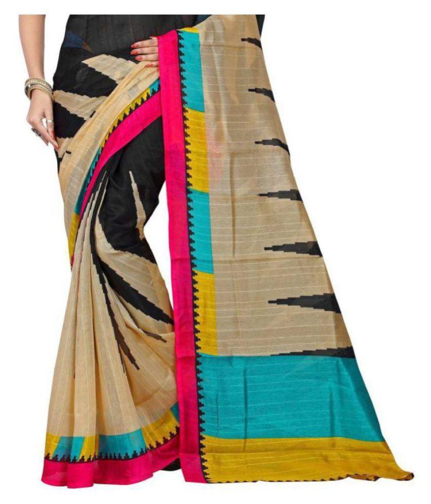 Mavani Black Bhagalpuri Silk Saree