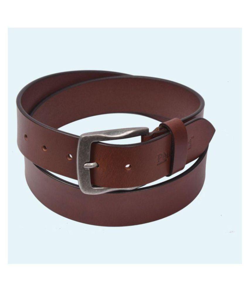 Pellezzari Brown Leather Formal Belts