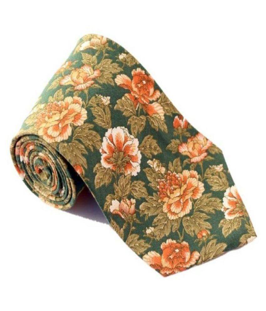 Roccia Indiano Multi Floral Micro Fiber Necktie