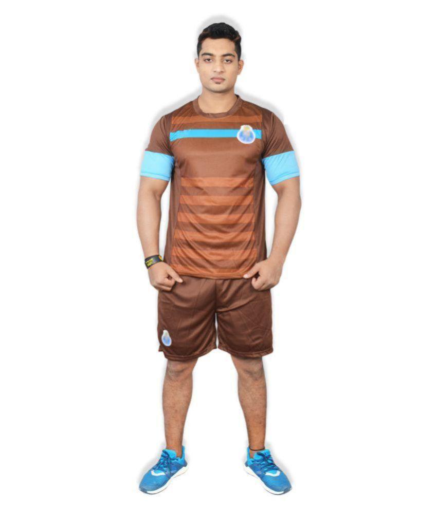 Football Fan Brown Polyester Jersey