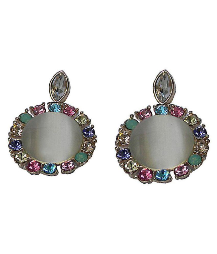 Trendeela.com Iffat Impressive Multicolored Stones Adorned Dangle Earring For Women