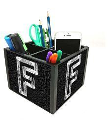 Nutcase 4 Slot Office Wooden Desktop Storage Holder Stand for Pen/Pencil/TV Remote Control/Stationery/Mobile Phone