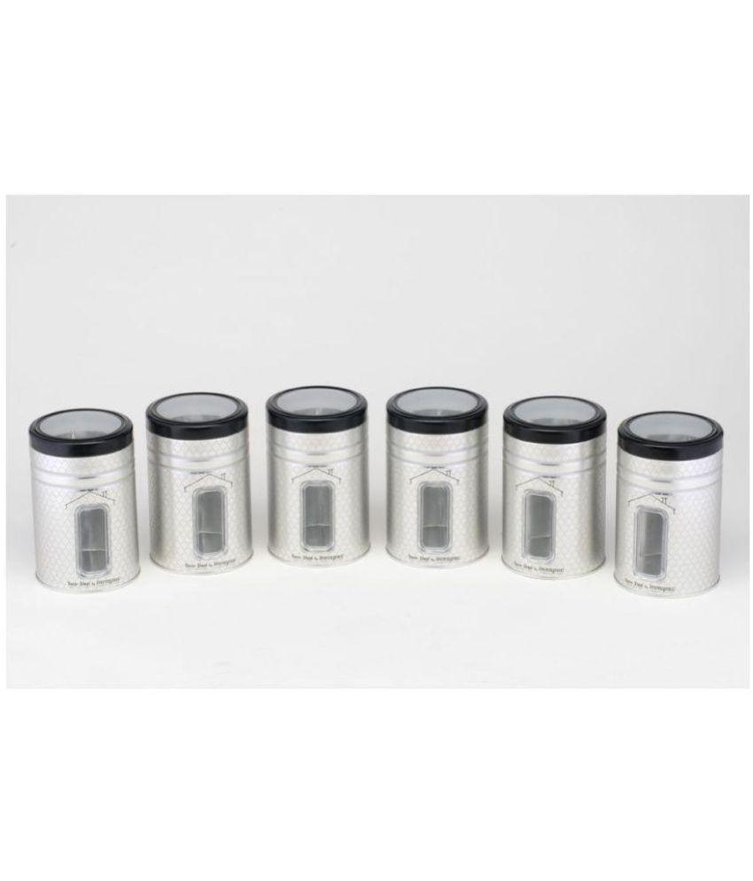 Innopac 1200ML INNOPAC SILVER STORAGE JAR Tin Food Container Set of 6