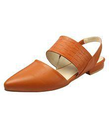Heels & Shoes Orange Flats