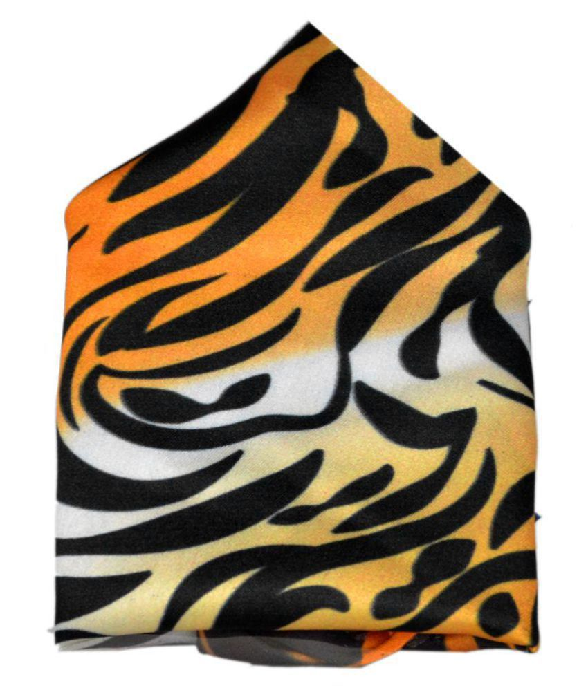 254353e2ee5b1 Haflingerr stylish solid satin Tiger skin pattern design polyester pocket  square.: Buy Online at Low Price in India - Snapdeal