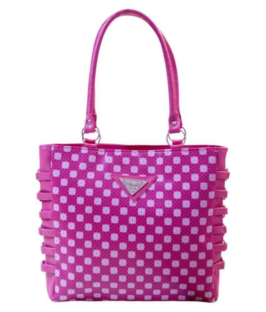 Reet Creations Handbag Pink P.U. Handheld