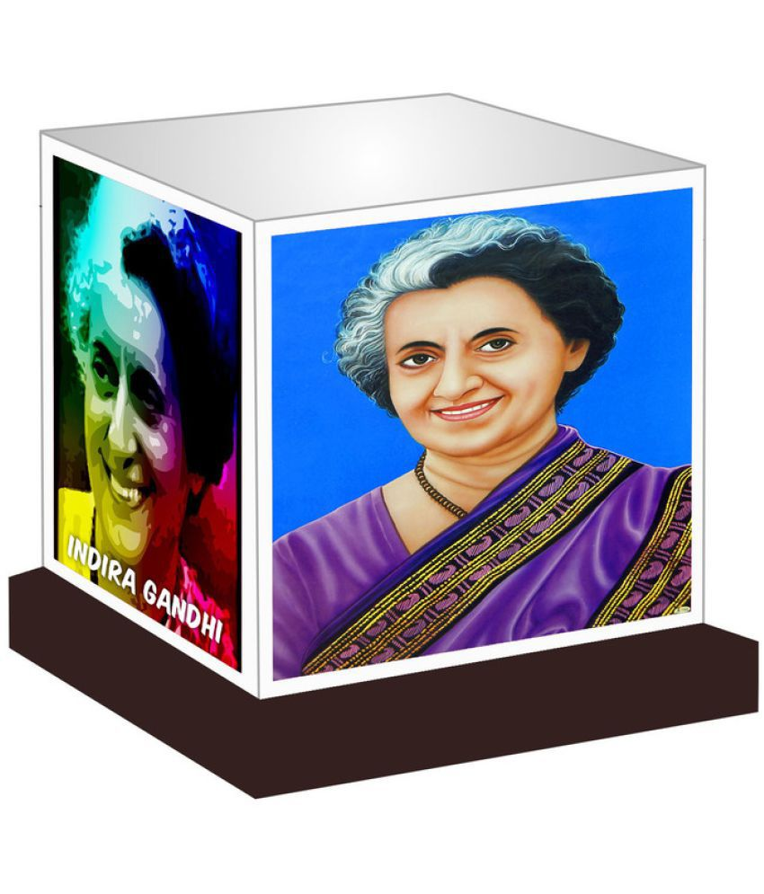 Unique Indian Crafts  Indira Gandhi Night Lamp Multi - Pack of 1