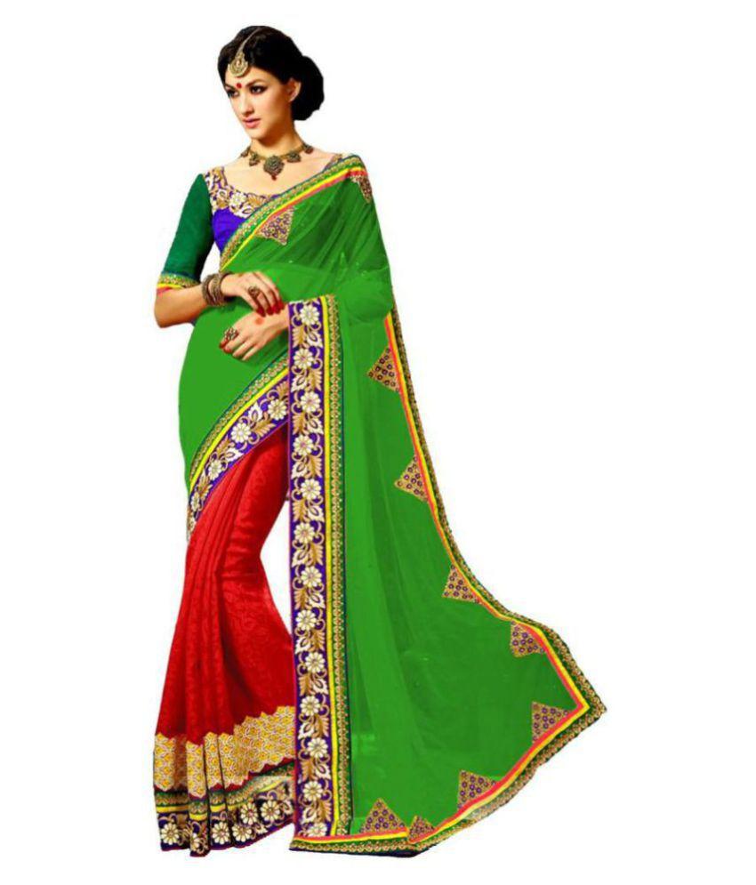 Indian Ethnic Multicoloured Georgette Saree