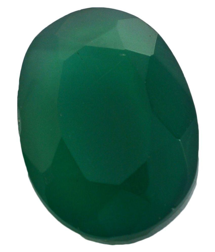 pitliya jewellers 3 -Ratti Self certified Green Onyx Semi-precious Gemstone
