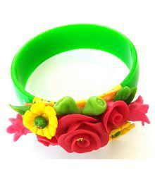 Unique Indian Crafts Porcelain Dough work Bangle /Bracelet ideal gift for girls and ladies /traditional /kids /women bracelete /child function /reast band /friends ship band