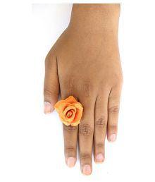 Unique indian craft Handmade Porcelain Dough Flower Ring /for women /girls
