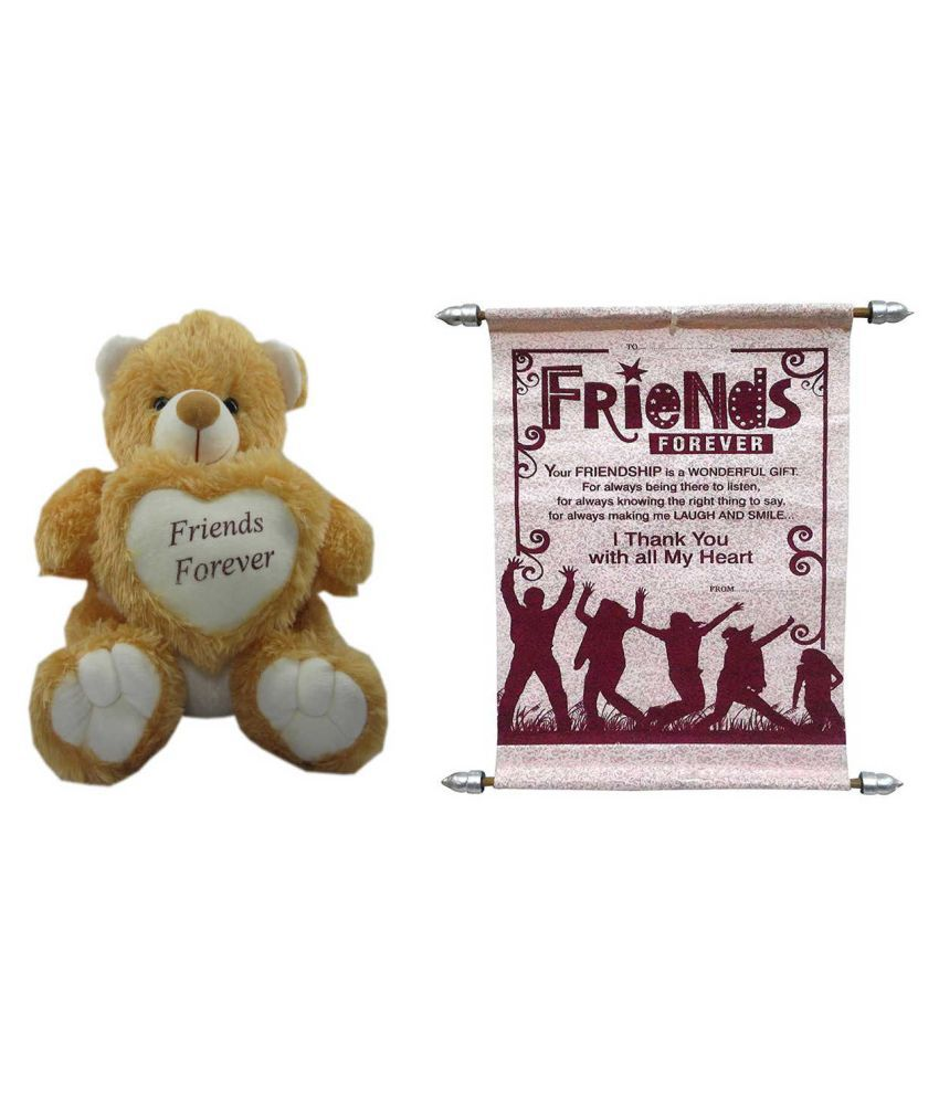 Teddy bear soft toy friend for ever   Card dear friends friends for sister   brother women kids  36cm by unique indian craft - Buy Teddy bear soft toy  friend ... 348fc25f66