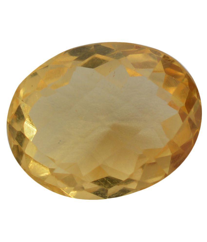 pitliya jewellers 9 -Ratti Self certified Yellow Citrine Semi-precious Gemstone