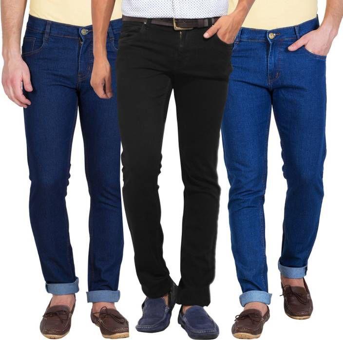 rkjshop Dark Blue Regular Fit Jeans