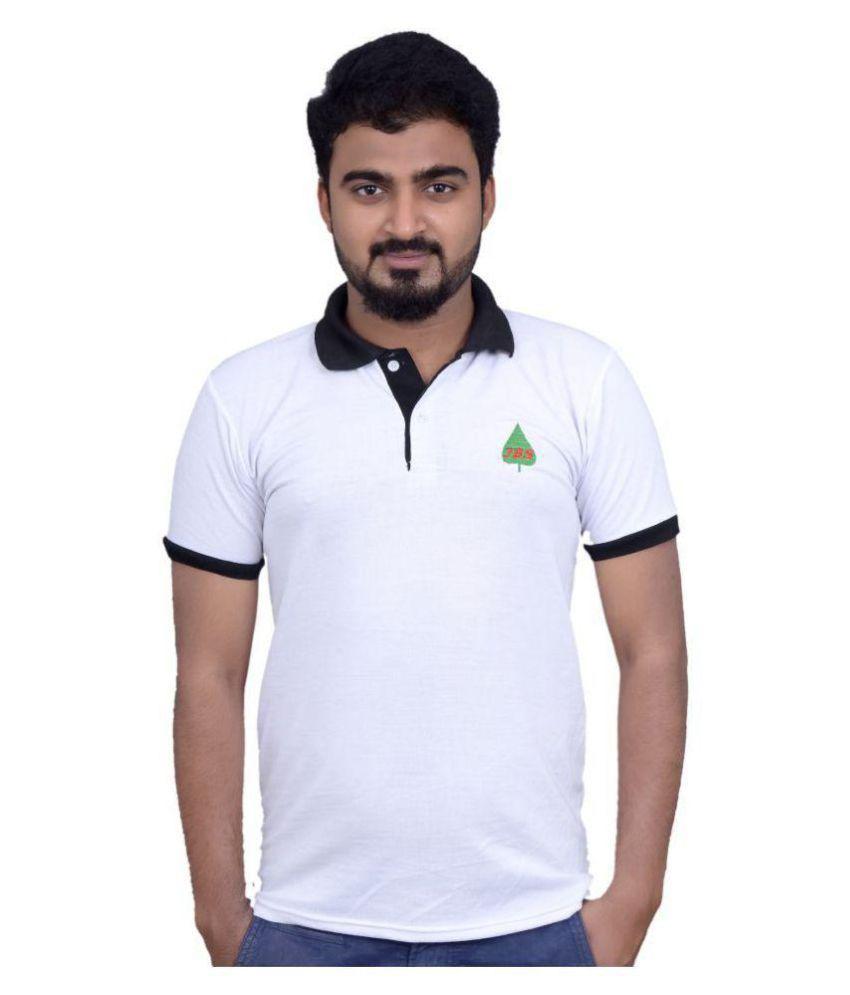 JBS White High Neck T-Shirt