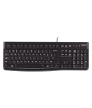 Logitech K120 Black USB Wired Desktop Keyboard Compatible with Windows, Linux , Chrome OS