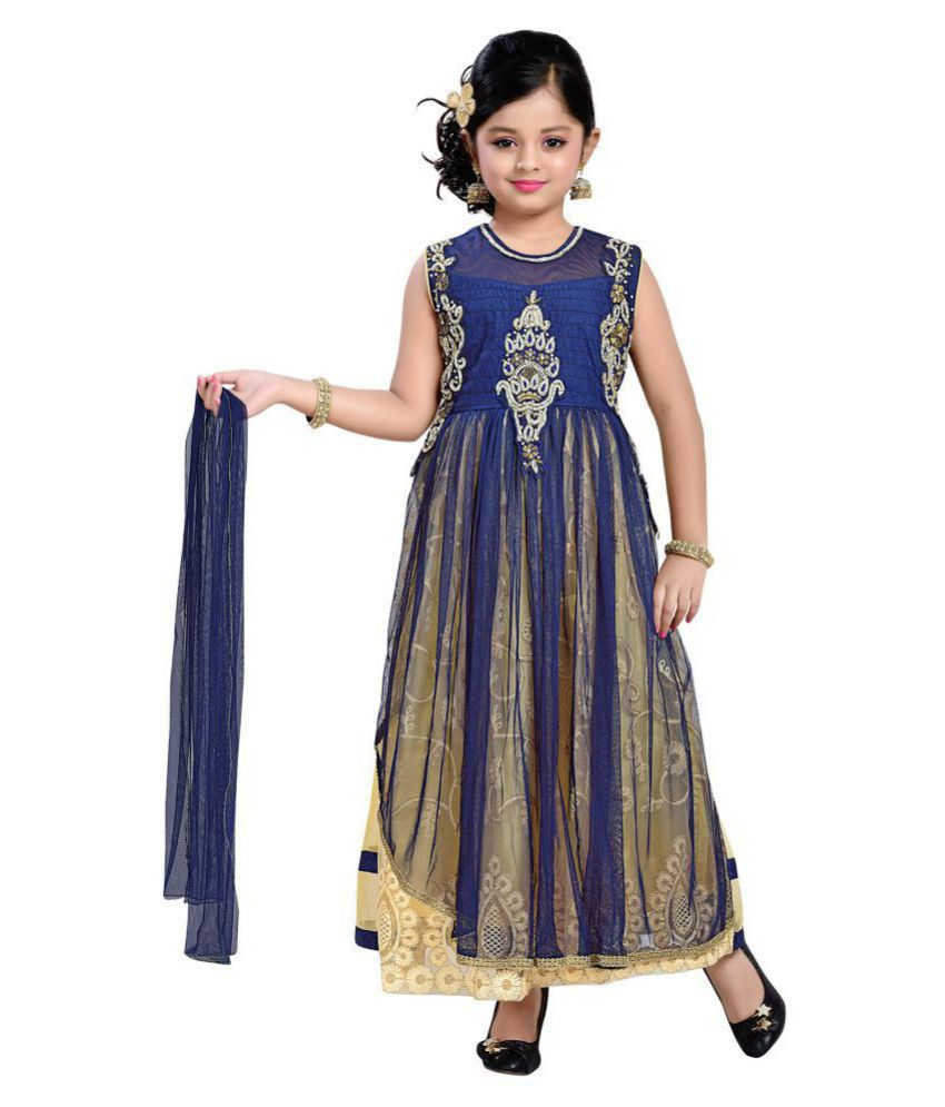 5a1c8f94c2 Aarika Blue Girl s Self Design Premium Ethnic Kurti and Churidar Set - Buy  Aarika Blue Girl s Self Design Premium Ethnic Kurti and Churidar Set Online  at ...