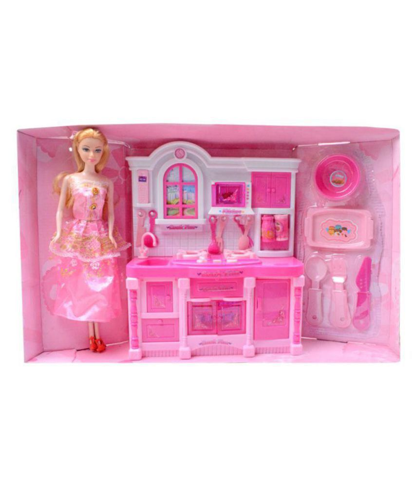 Cooking Set for Barbie Doll with Beautiful Accessories Toys Toy Kids - 99