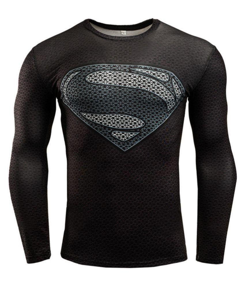 NOVADAB Black Polyester Lycra T-Shirt Single Pack