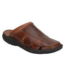 Red Tape Men Tan Sandals