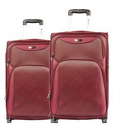 Safari Red M( Between 61cm-69cm) Check-in Soft TERGO 55/65 4W SET RED Luggage