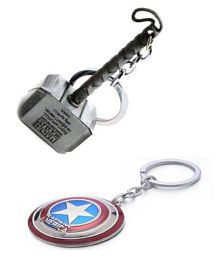 Thor Hammer and Shield Keychain