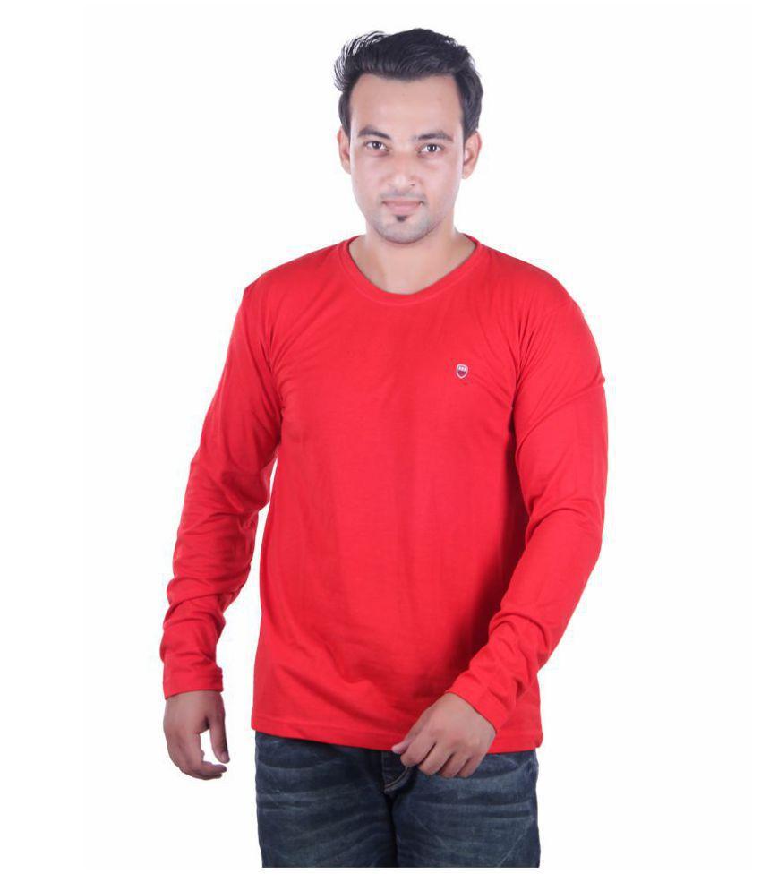 HARBOR N BAY Red Round T-Shirt