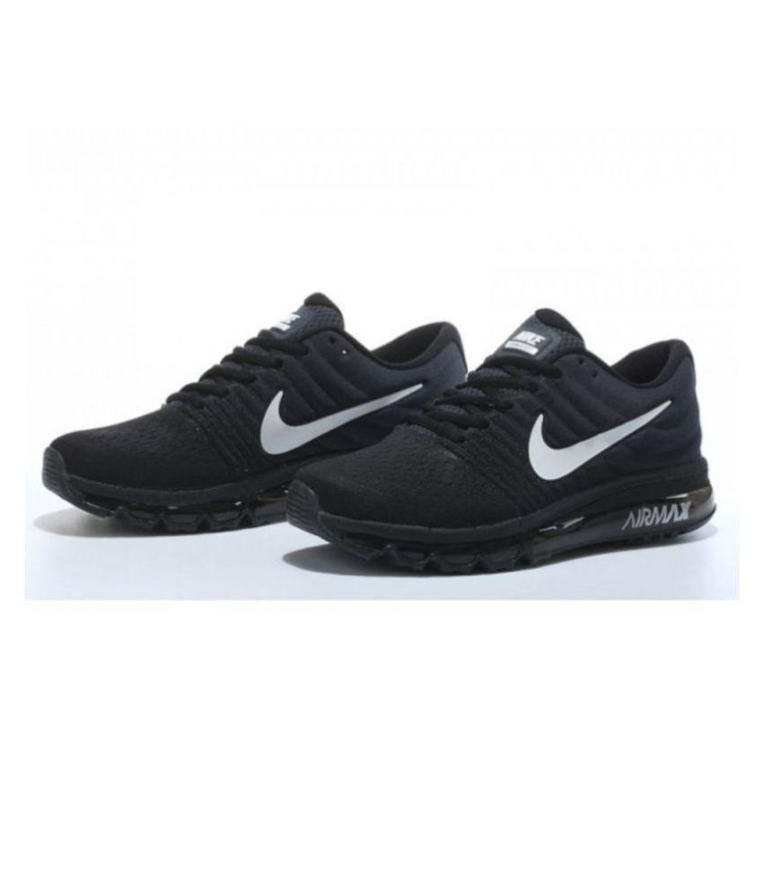 f20ca8f1c93c3 Nike AIR MAX 2017 BLACK Running Shoes - Buy Nike AIR MAX 2017 BLACK Running  Shoes Online at Best Prices in India on Snapdeal