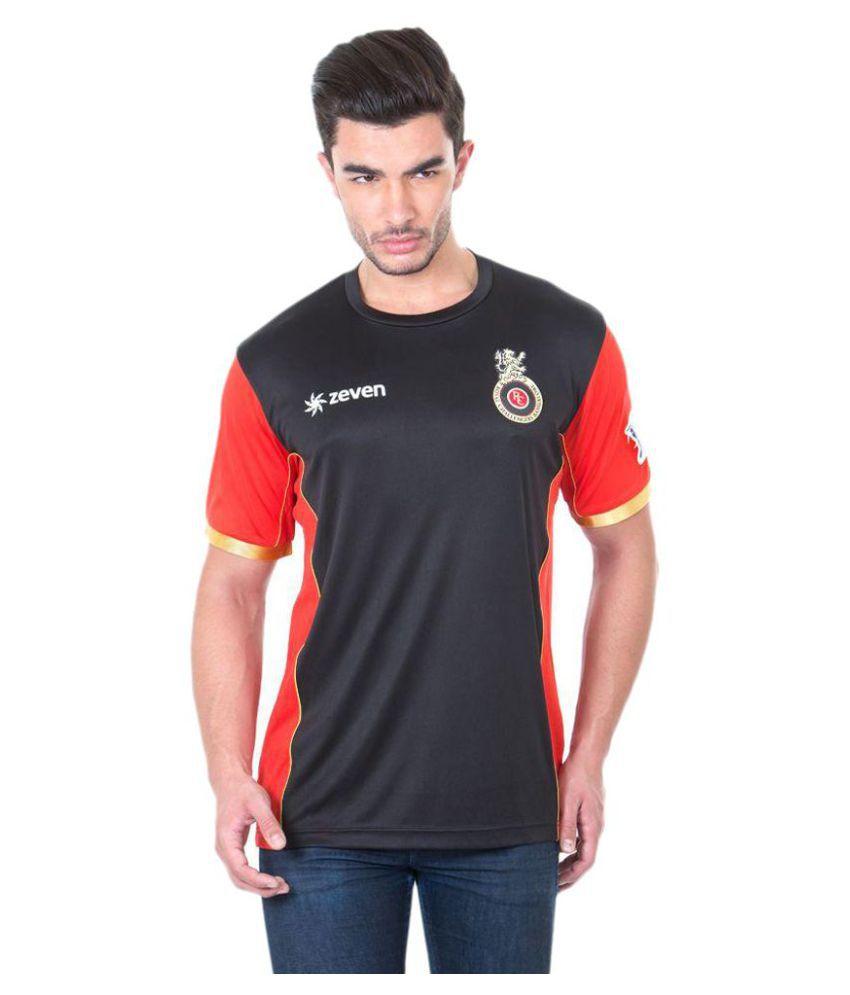 Royal Challengers Bangalore Black Round T-Shirt
