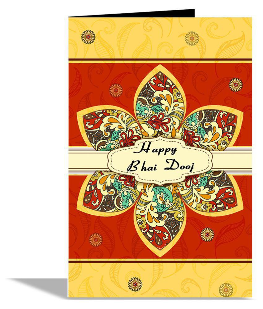 Happy Bhai Dooj Greeting Card Buy Online At Best Price In India