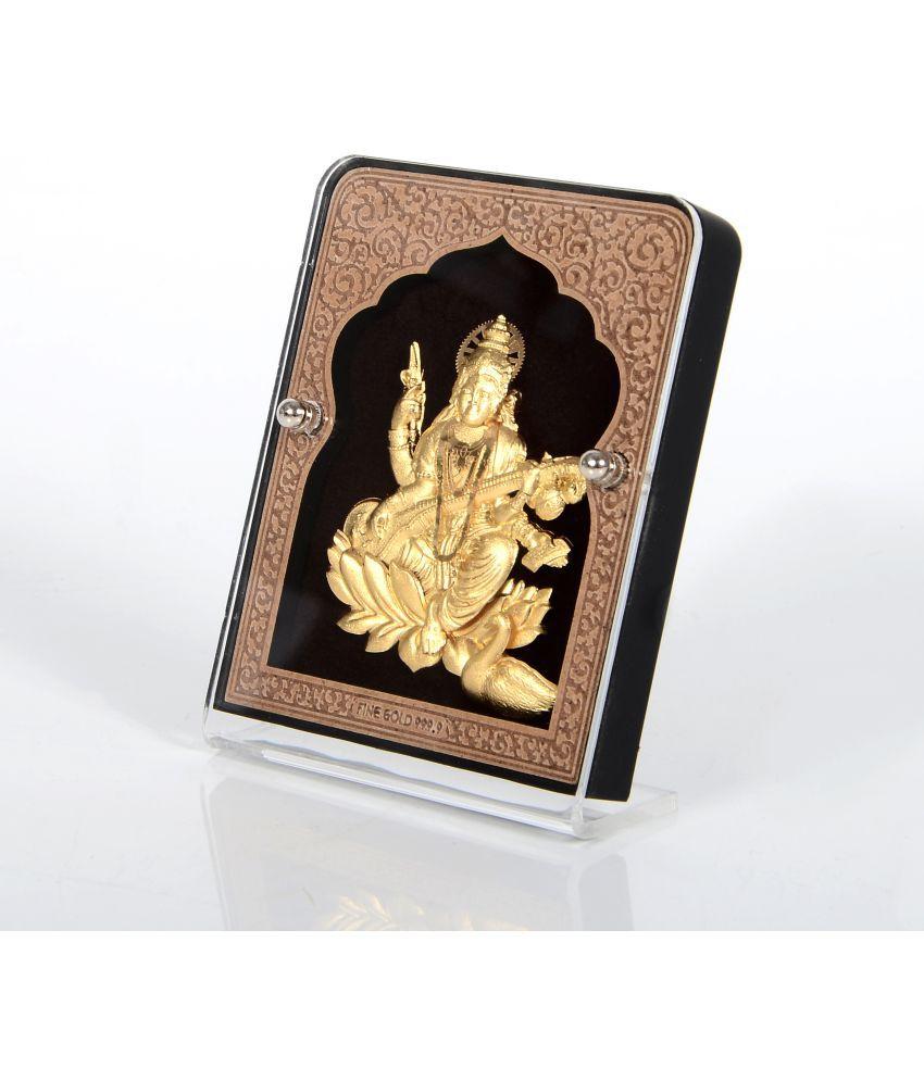HandyMandyCrafts Saraswati Glass Idol